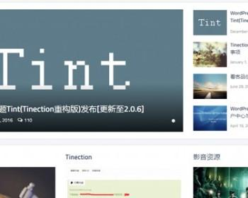 WordPress新主题TintPro(Tinection重构版)无域名限制主题[升级至2.0.6]