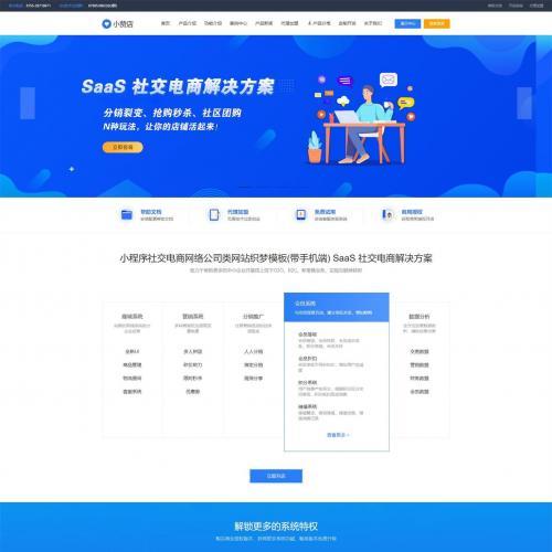 织梦dedecms小程序社交电商系统开发网络公司网站模板(带手机移动端)