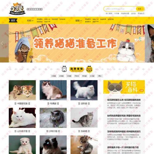 96kaifa仿《小可爱宠物网》完整版源码下载+火车头采集+手机版 专业宠物资讯平台源码