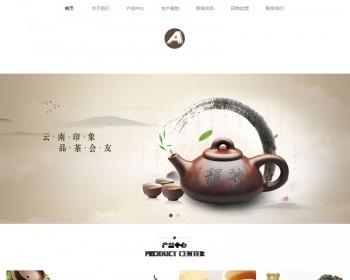 (自适应手机版)响应式茶叶网站源码 绿色产品展现类企业织梦模板_
