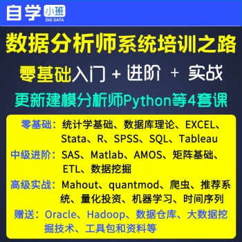 零基础数据分析师/数据挖掘视频教程/Stata/R/SAS/Matlab/Python
