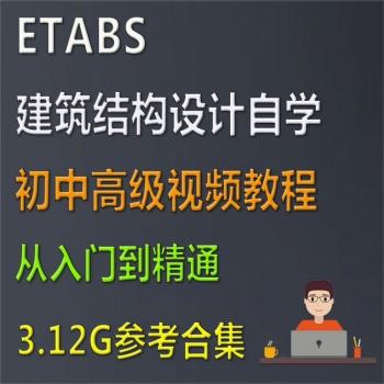 2019建筑结构设计师ETABS 中文使用指南自学入门参考视频教程