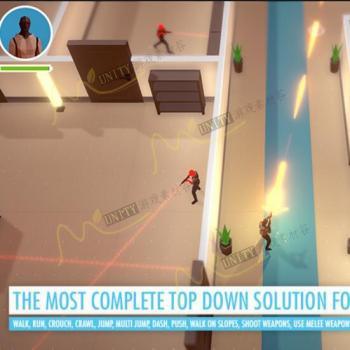 unity完整俯视角度射击游戏引擎项目系统源码TopDown Engine 1_3